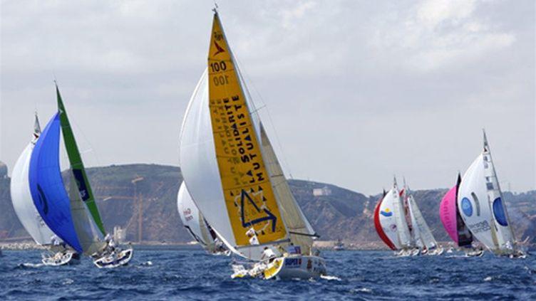 La flotte de la Solitaire du Figaro (MARMARA/COURCOUX / AFP)