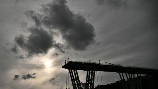 Le pont Morandi à Gênes (Italie), le 7 février 2019. (MARCO BERTORELLO / AFP)