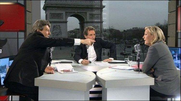 Jean-Luc Mélenchon, Marine Le Pen (PASCAL PAVANI / AFP)