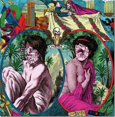 Pochette du premier EP de Parade réalisée par le graphiste belge Elzo Durt (Parade)