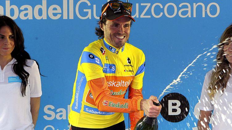 L'Espagnol Samuel Sanchez tout à sa joie