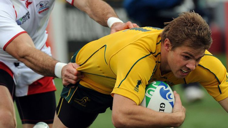 Drew Mitchell sous le maillot des Wallabies (GREG WOOD / AFP)