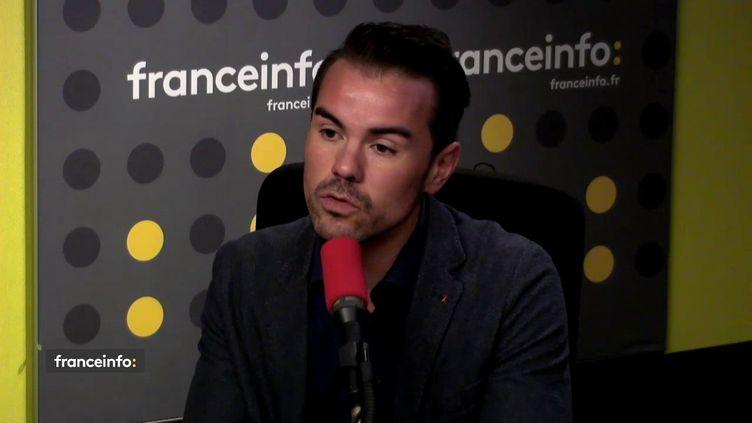 Aurélien Beaucamp, président de l'associaitonn de lutte contre le VIH Aides, invité de franceinfo le 28 novembre 2017. (FRANCEINFO / RADIOFRANCE)