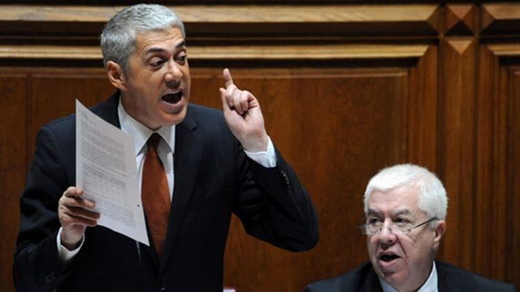 Le Premier ministre portugais, José Socrates, début novembre lors du débat budgétaire au Parlement (AFP / Francisco LEONG)