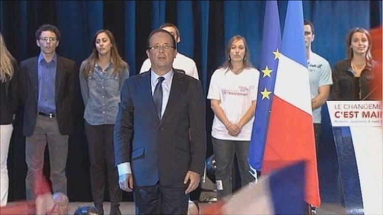François Hollande en meeting à Rennes (FTV)