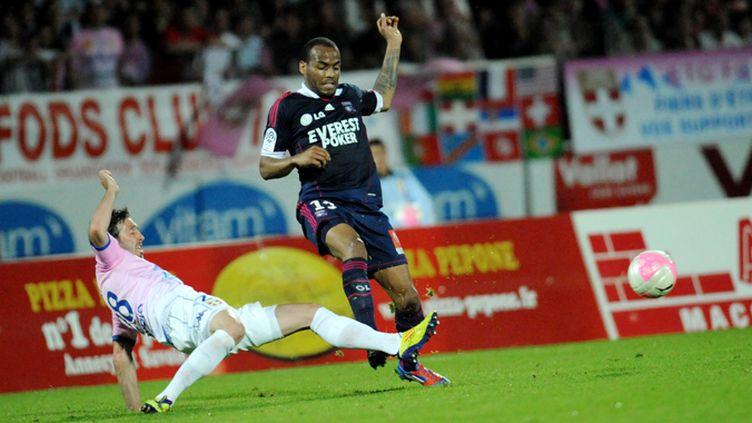 Jordan Ayew (Marseille) sur la pelouse d'Evian-TG