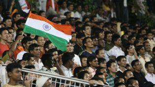 Des supporters indiens à New Delhi après la victoire de l'équipe nationale face à la Syrie, en finale de la Nehru Cup, le 31 août 2009. (QAMAR SIBTAIN / GETTY IMAGES)