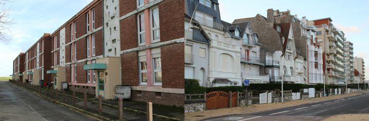 Mazingarbe (à gauche) et Le Touquet-Paris-Plage (à droite), fin janvier 2020. (ROBIN PRUDENT / FRANCEINFO)