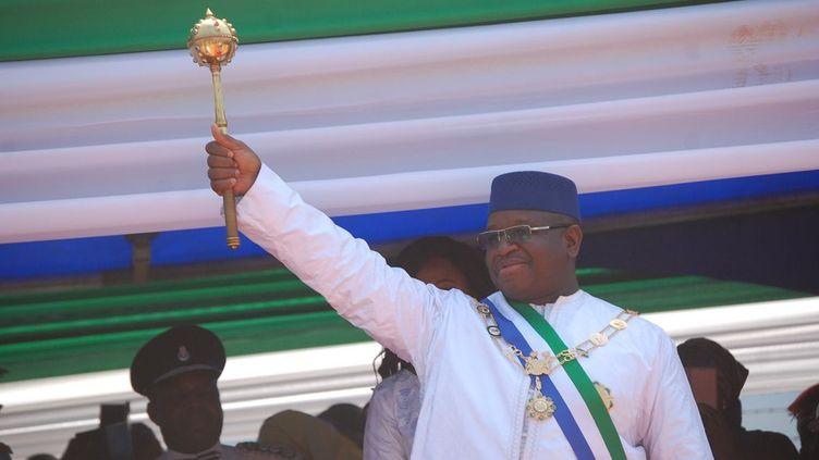 Investiture du président sierra-léonais Maada Bio, le 12 mai 2018 à Freetown. (SAIDU BAH / AFP)
