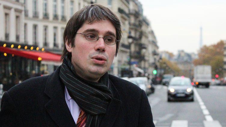 Benoît Quennedey, le 16 novembre 2017 devant le Panthéon, à Paris. (AFP)