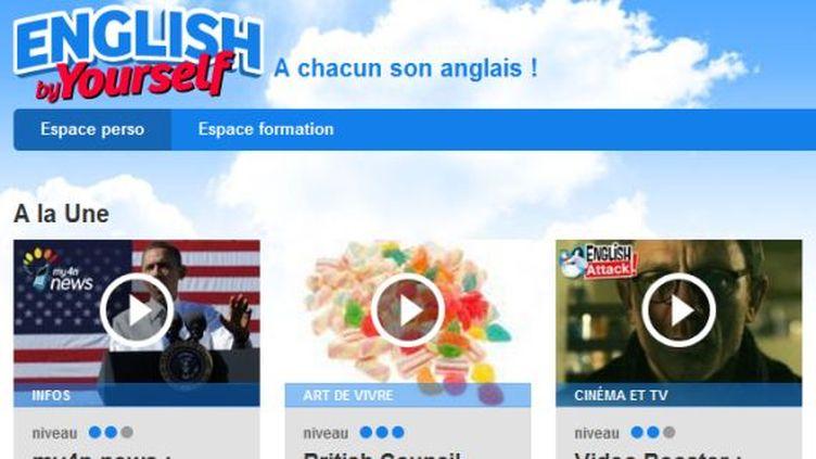 """Capture d'écran du site """"English by Yourself"""", le portail duCentre national d'enseignement à distance pour apprendre l'anglais. (FTVI)"""