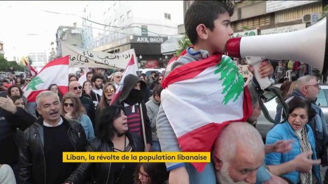 """Liban : en ville comme à la campagne, la population appelle à """"la révolution"""""""