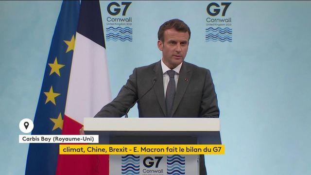"""""""G7 berjanji untuk berbagi satu miliar dosis ekstra"""", mengumumkan Emmanuel Macron"""