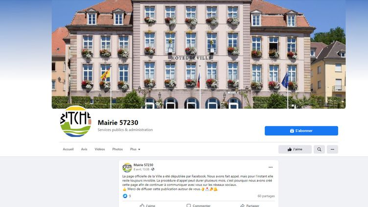 La mairie de Bitche a dû créer une nouvelle page Facebook pour informer ses riverains. (CAPTURE D'ÉCRAN FACEBOOK)
