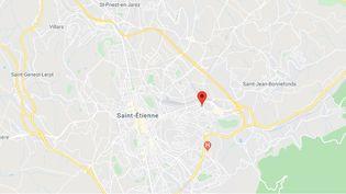 Le quartier Monthieu à Saint-Etienne. (CAPTURE D'ECRAN GOOGLE MAPS)