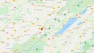 Les Fourgs (Haut-Doubs). (CAPTURE D'ECRAN GOOGLE MAPS)