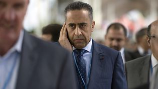 Abdellatif Hammouchi, actuellement chef de la Sûreté nationale, lors de la conférence internationale sur le climat COP22 à Marrakech en2016. (FADEL SENNA / AFP)