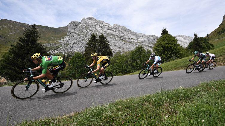 Les coureurs lors de l'édition 2020 du Critérium du Dauphiné. (ANNE-CHRISTINE POUJOULAT / AFP)