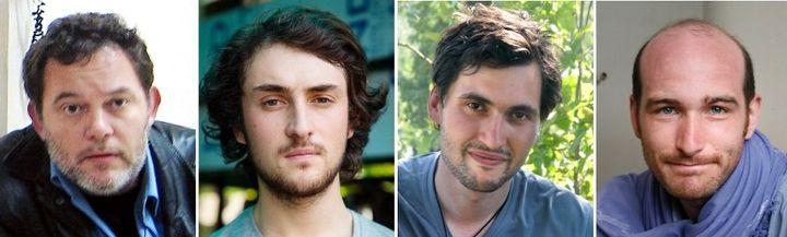 Les journalistes otages en Syrie : Didier Francois, Edouard Elias, Pierre Torres et Nicolas Henin  (AFP PHOTO / CHRIS HUBY / HAYTHAM PICTURES / TORRES FAMILY / BENOIT SCHAEFFER)