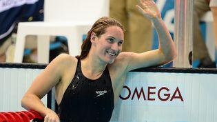 La Française Camille Muffat après la finale du 200 m nage libre le 31 juillet 2012 à Londres. (MARTIN BUREAU / AFP)