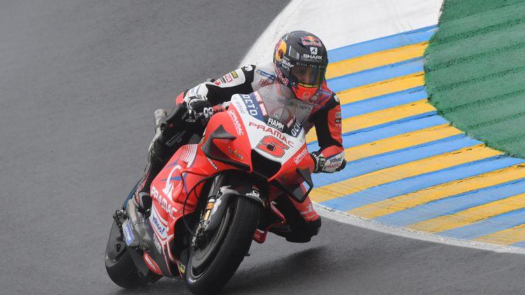 Johann Zarco (Ducati Pramac Racing) lors du Grand Prix de France sur le circuit du Mans, dimanche 16 mai. (JEAN-FRANCOIS MONIER / AFP)