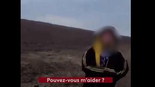 Capture écran de la vidéo filmée par un garde-frontière américain, au Texas, où l'on voit un enfant de 10 ans perdu à la frontière avec le Mexique, le 1er avril 2021. (FRANCE TELEVISIONS)