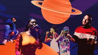 Durant la décennie 2009-2019, le rap français a connu un envol stratosphérique, se propulsant directementen tête des classements. (AWA SANE / FRANCEINFO)