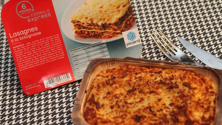 """Des analyses ont confirmé la présence de viande de cheval dans deux lots de lasagnes à la bolognaise """"formule express"""" de Picard, a annoncé la marque mardi 12 février 2013. (MAXPPP)"""
