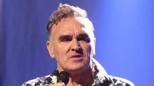 Morrissey, toujours aussi engagé et enragé. Ici en concert àReading en janvier 2013.  (Owen Sweeney/AP/SIPA)