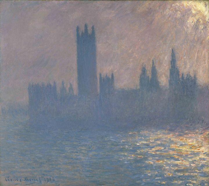 "Claude Monet, ""Houses of Parliament, Sunlight Effect"", 1903, Brooklyn Museum of Art, New York  (Brooklyn Museum of Art, New York)"