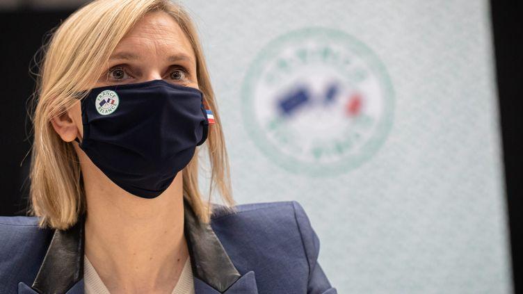 La ministre de l'Industrie Agnès Pannier-Runacher en visite dans l'entreprise Bernard Controls à Gonesse (Val d'Oise), le 15 avril 2021. (MAXPPP)