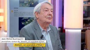 """Journaliste et auteur du livre """"Alstom, scandale d'État"""", Jean-MichelQuatrepointétait l'invité de StéphaneDépinoymercredi 27 décembre dans l'émission """":L'éco"""". Il est revenu sur l'accord entreAlstomet Siemens.  (FRANCEINFO)"""