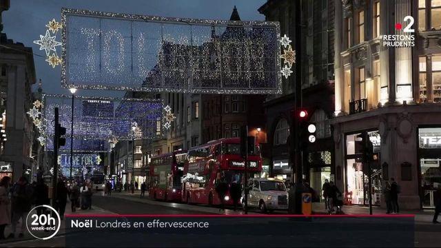"""Londres : l'esprit de Noël prend le pas sur la """"morosité ambiante"""""""
