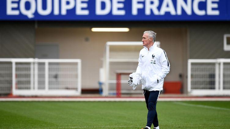 Didier Deschamps, le sélectionneur de l'équipe de France, à Clairefontaine (FRANCK FIFE / AFP)