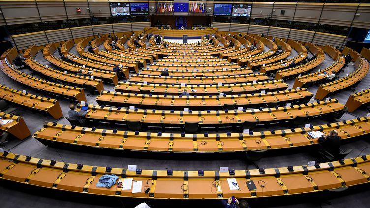 Une session du Parlement européen à Bruxelles (Belgique). (JOHN THYS / AFP)