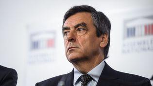 L'ancien Premier ministre, François Fillon, lors d'une conférence de presse à l'Assemblée nationale, le 4 septembre 2014. (MAXPPP)