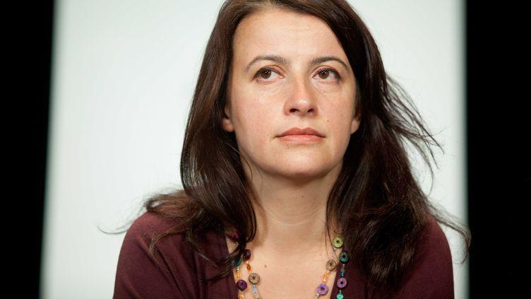 Cécile Duflot, secrétaire nationale d'Europe Ecologie - Les Verts, lors du congrès européen des partis verts, le 12 novembre 2011, à Paris. (REVELLI-BEAUMONT / SIPA)