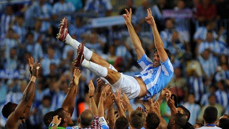 Ruud van Nistelrooy fêté par ses partenaires de Malaga