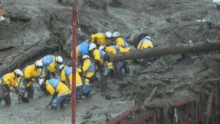 Japon : des milliers de sauveteurs à la recherche des survivants après une immense coulée de boue (FRANCE 2)