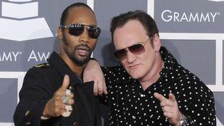 RZA, éminence grise du Wu-Tang Clan et le cinéaste Quentin Tarantino.  (Chris Pizello/AP/SIPA)