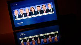 Les candidats à la primaire à droite lors du dernier débat télévisé avant le premier tour, le 17 novembre 2016 sur France 2. (MAXPPP)