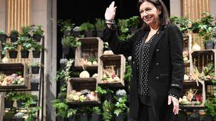 Anne Hidalgo le 10 janvier lors d'une cérémonie des vœux avec les élus de Paris. (BERTRAND GUAY / AFP)