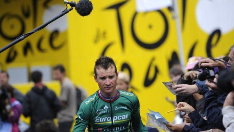 Thomas Voeckler, le leader d'Europcar (LIONEL BONAVENTURE / AFP)