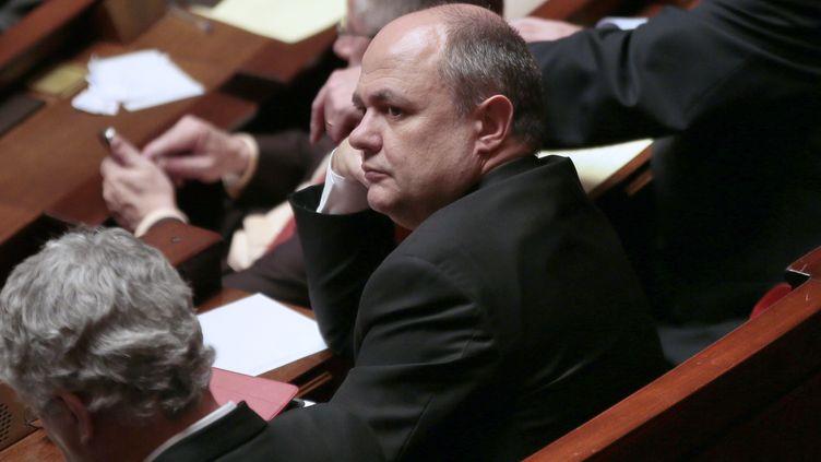 Le président du groupe socialiste à l'Assemblée nationale, Bruno Le Roux, dans l'hémicycle, le 29 janvier 2013 (Paris). (JACQUES DEMARTHON / AFP)