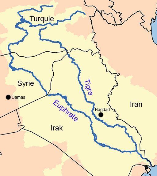 Le Tigre et L'Euphrate prennent leurs sources en Turquie avant de traverser la Syrie et l'Irak. (Creative Commons Attribution-Share Alike 2.5 Generic license.)