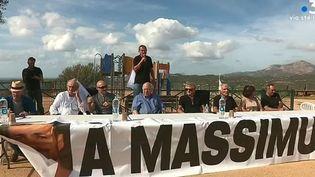 Création du collectif Massimu Susini à Cargèse (Corse-du-Sud), en octobre 2019. (FRANCE 3 CORSE VIASTELLA)