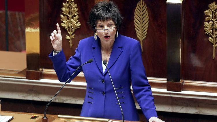 La ministre déléguée chargée de la Famille, Dominique Bertinotti, à l'Assemblée nationale, à Paris, le 17 avril 2013. (KENZO TRIBOUILLARD / AFP)