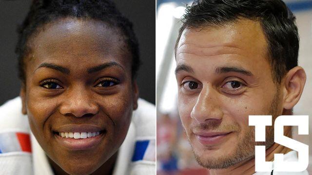 Présentation des 4 grands champions sélectionnés en tant que porte-drapeaux de l'équipe de France pour Tokyo : Clarisse Agbegnenou (judokate), Samir Ait-Saïd (gymnaste), et pour les paralympiques Sandrine Martinet (judokate), et le tennisman Stéphane Houdet.