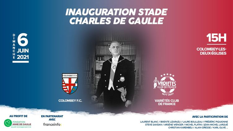 Inauguration Stade Charles de Gaulle (Variété Club)