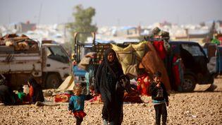 Lecamp d'Aïn Issa est situé à 50 km au nord de Raqqa, le 23 septembre 2017. (DELIL SOULEIMAN / AFP)
